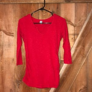 Old navy red maternity top size S